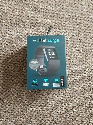 Fitbit Surge Fitness Watch with Heart Rate Monitor Black Large