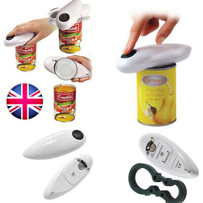 Portable One Touch Automatic Electric Can Tin+ Free Bottle Jar Grip Mate Opener