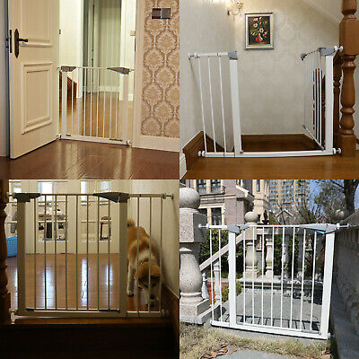 "30"" Tall Safety Gate Baby Toddler Indoor Security Walk Through Dog Pet fence"