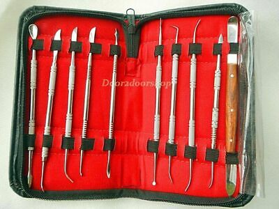 1 Set Dental Lab Stainless Steel Kit Wax Carving Tool