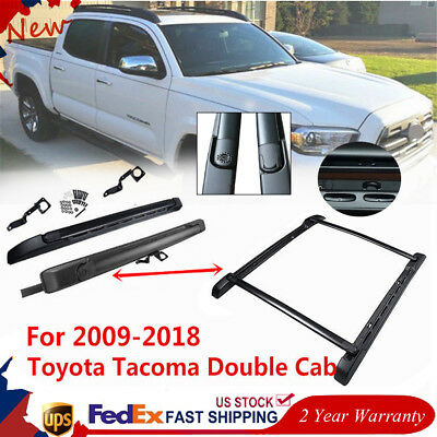 For 09-18 Toyota Tacoma Double Cab OE Style Roof Rack Side Rails Bars Assemble