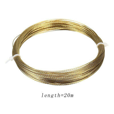 20m Auto Car Gold Windscreen Window Glass Cutting Out Braided Removal Wire Steel