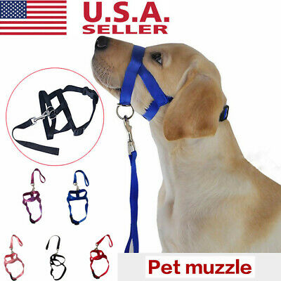 Adjustable Pet Dog Mask Anti Bark Bite Mesh Soft Mouth Muzzle Grooming Chew Stop