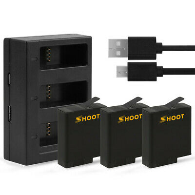 slots Battery Charger With 2pcs 1220mAh Battery for GoPro Hero 5 6 7 Black