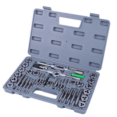 40Pcs Metric Tap And Die Set Wrench Cuts M3-M12 Bolts With Storage Case