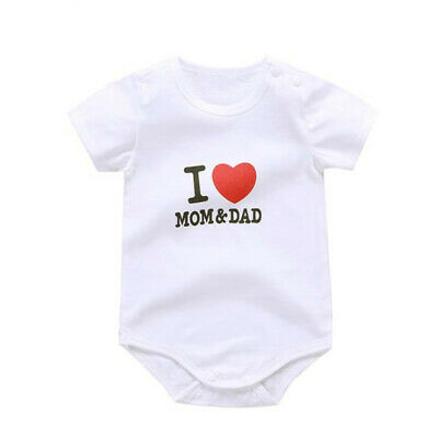 Cotton Baby Boys Girls Clothes Short Sleeve Bodysuit Jumpsuit Outfit Rompers