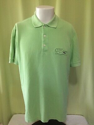 0767af9d9bab LACOSTE BIG CROC Logo Men s Green Polo Shirt Size 5 Medium Rare ...