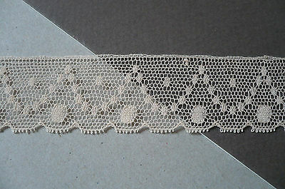 Vintage French Cotton Lace. Ecru.  1930's. 25mms.. x  3 Metres.