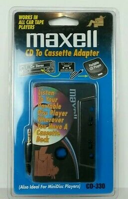 Maxell CD To Cassette Adapter CD-330 Car Home Portable Disc Player NEW Unopened