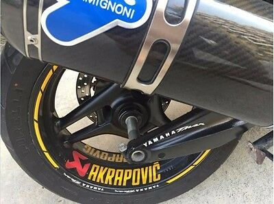 Wheel Sticker For YAMAHA TMAX 500 Akrapovic Front Rear Wheel Rim Stripes Decal