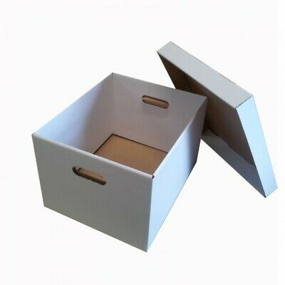 Archive Box Document File Cardboard Lidded Office Move Storage Removal Boxes Lid