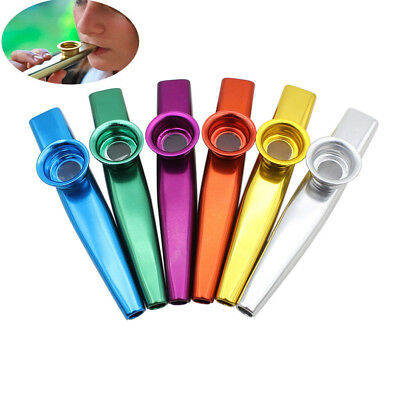 Metal Kazoo Harmonica Mouth Flute Kid Party Gift Durable Musical Instrument
