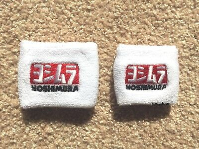 White Large & Small Brake Clutch Reservoir Sock Cover Motorcycle For Yoshimura