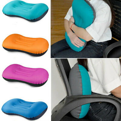 Portable Travel Inflatable Flight Pillow Rest Air Cushion Neck Protect O WQH