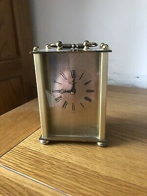 vintage 1960 German Carraige Mantel Clock