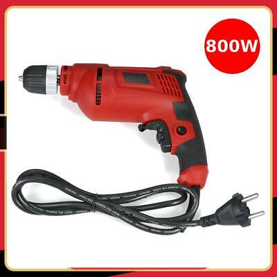 1/2 inch 800W Electric Drill Rotary Tools Kit Corded Hammer Drill 5.4 Amp Red MA