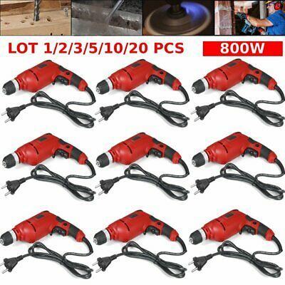 """LOT 1-20PCS 1/2"""" 800W Electric Drill Rotary Tools Corded Hammer Drill 5.4 Amp MA"""