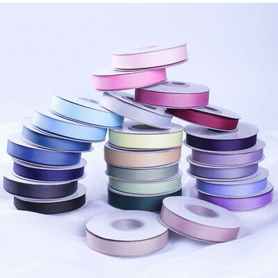 Quality Grosgrain Ribbon 10,15,25,38mmx25 Yards Meters Full Roll Reel 196 Colour