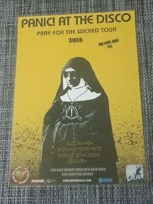 Panic At The Disco - 2018 Australia Laminated Tour Poster Official WICKED Poster