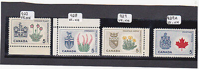 CANADA Provincial Flowers #s 427 - 429 A          MNH (**)