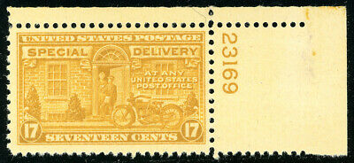 US Scott #E18 Motorcycle 17¢  Orange Yellow Special Delivery P#  MNH *FREE SHIP*