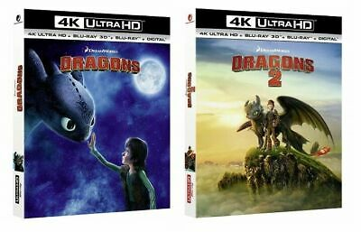 How to train your Dragon 1 & 2 (4K UHD + 3D + 2D Blu-ray) BRAND NEW