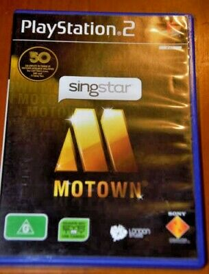 SINGSTAR Motown Playstation 2 PS2 PAL Game COMPLETE w/booklet - FREE POST