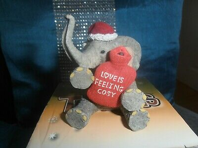tuskers collectable henry elephant,love is feeling cosy,perfect