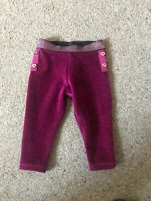 Ted Baker Velour Leggings 3-6 Months