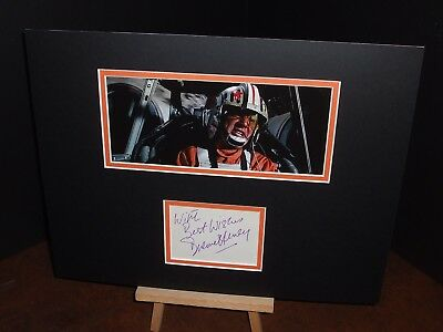 DREWE HENLEY Red Leader Star Wars Rare Genuine Authentic Signed Display UACC COA