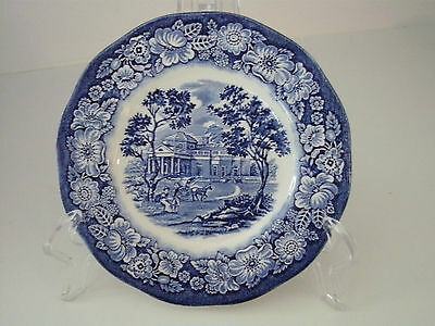 "LIBERTY BLUE HISTORIC COLONIAL  bread & butter plate/s  MONTICELLO  6"" ACROSS"