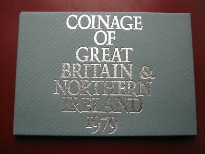 UK Great Britain 1979 6 coin Proof set 1/2 - 50 Pence Royal Mint case envelope