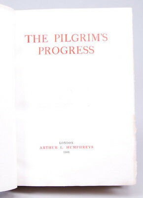 John Bunyan, Bayntun / PILGRIM'S PROGRESS 1906