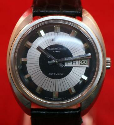 Jaeger Le Counter Watch Vintage 1960s Automatic Wind With Day & Date Wristwatch