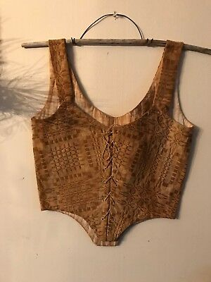 Early Style Primitive Coverlet Corset Great for a Peg Rack