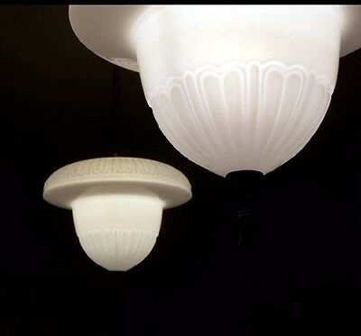 208 Vintage 30's Acorn Ceiling Light Lamp Fixture Glass hall porch pendant