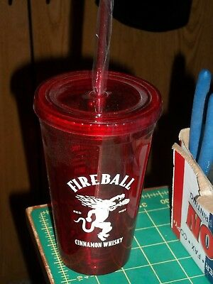 Nwot Fireball Cinnamon Whiskey Plastic Mixed Drink Recipe Cup