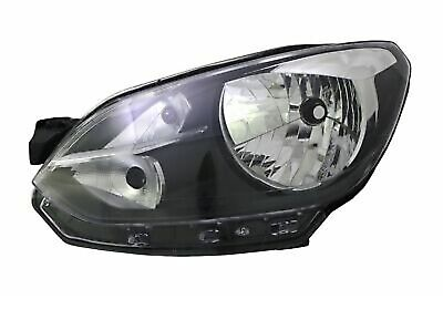 HEADLIGHTS LEFT FOR VW UP! 12/11- Black Halogen H4 FLUSH FOR LWR