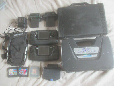 Sega Game Gear Job Lot, 2 Consoles, Cases, Games, TV Tuners, PSU, Master System