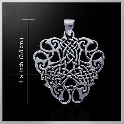"Sterling Silver Celtic/Druid ""Thread Of Life"" Pendant/Necklace"