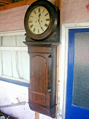 Fantastic  Massive Tavern Weight Driven Wallclock Good Working Order