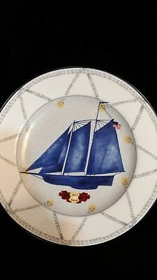 """AMERICAN ATELIER TALL SHIPS 5235   America 1851 8"""" SALAD PLATE"""