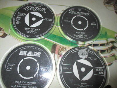 Set of 4 Record Label Coaster