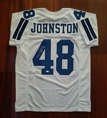 063eaeecc82 COWBOYS DARYL JOHNSTON Autographed Signed White Jersey