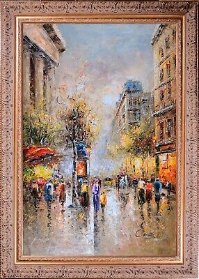 Framed Painting, Paring Spring Season С.Vevers Signed Original Oil on Canvas