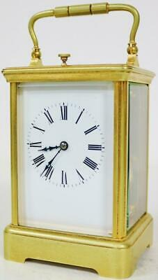 Antique French 8 Day Carriage Clock Repeat Feature Ormolu Gong Strike Repeater