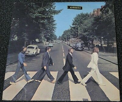 The Beatles Lp Argentina Abbey Road Estereo Sticker 6010 Spanish Titles