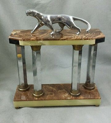 French Art Deco Panther Mantle Clock Base