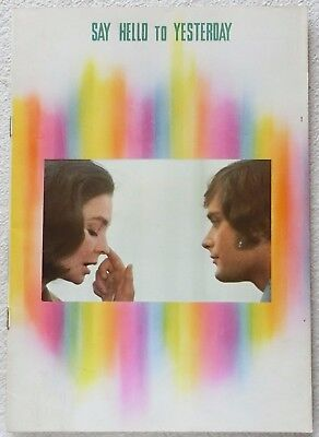 SAY HELLO TO YESTERDAY MOVIE PROGRAM BOOK 1971 Leonard Whiting Simmons JAPAN F/S