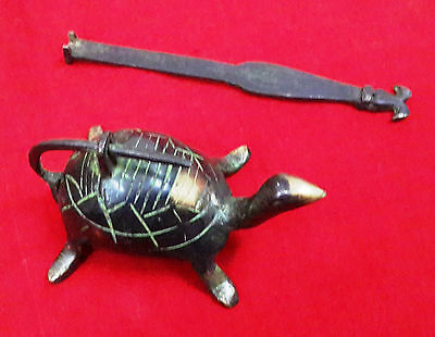 Feng Shui Tortoise Lock Old Chinese Turtle Brass Padlock For Wealth Health BM405